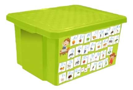 """Ящик для хранения игрушек Little Angel """"Обучайка"""" - Азбука салатовый"""
