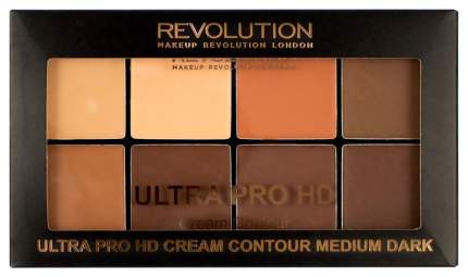 Палетка для макияжа MAKEUP REVOLUTION HD Pro Cream Contour Medium Dark 20 г