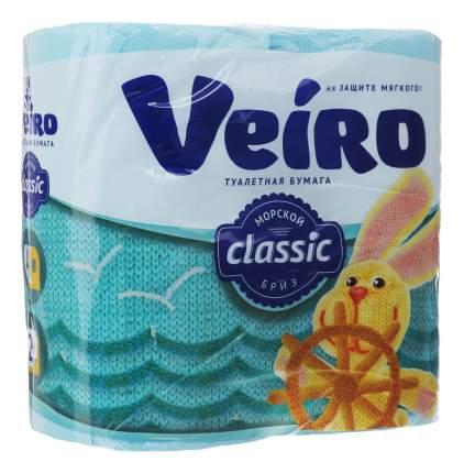 Туалетная бумага Veiro Classic Морской бриз 2-ух слойная 4 шт.