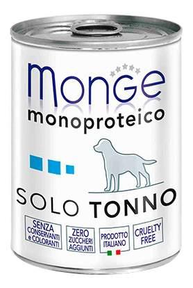 Консервы для собак Monge Monoproteico Solo, паштет из тунца, 400г