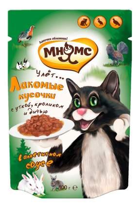 Корм для кошек Мнямс кот Фёдор, утка, кролик, дичь, 100г