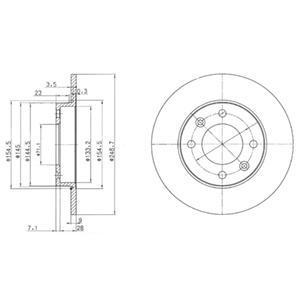 Тормозной диск DELPHI BG3653