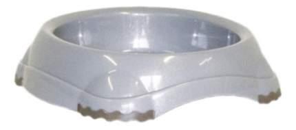Одинарная миска для кошек MODERNA, пластик, серый, 0.21 л