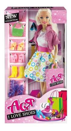 Набор кукла Ася Блондинка в розовом платье на прогулке с семьей семья