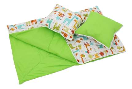Комплект детского постельного белья Polini Жираф зеленый