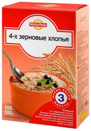 Хлопья Myllyn Paras 4 зерновые с 12 мес 500 г