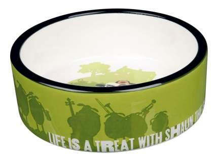 Одинарная миска для кошек и собак TRIXIE, керамика, зеленый, 0.3 л