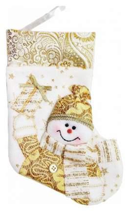 Новогодний носок Новогодняя Сказка 973034 Белый, золотой