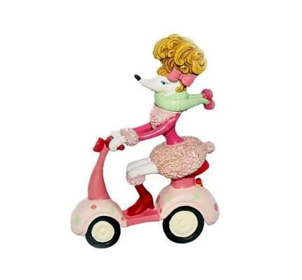 Елочная игрушка Собачка-Пудель на Скутере 7*3*10,5 см, подвеска 3D1116