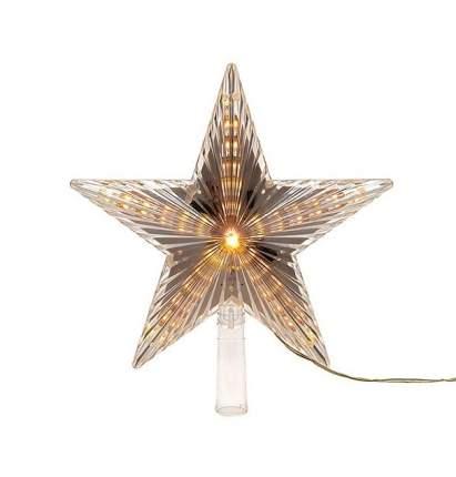 Kaemingk Светящаяся звезда на елку Волшебная 22 см теплая белая 31 LED лампа 495201