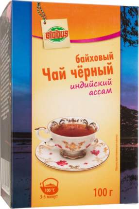 Чай черный байховый Глобус индийский ассам 100 г