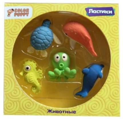 Ластики Color Puppy Морские жители 5шт 95324