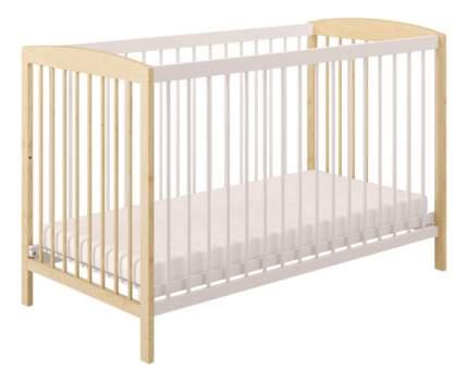 Кровать детская Polini Simple 101 натуральный+белый
