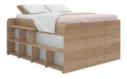 Кровать TWIST UP левосторонняя дуб сонома
