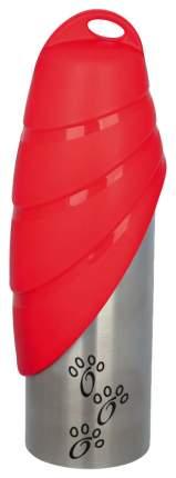 Поилка дорожная для собак TRIXIE, красный, серебристый, 750 мл