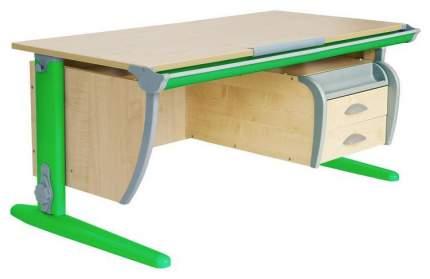 Парта Дэми СУТ 15-05Д2 с двумя двухъярусными задними и боковой приставками Зеленый 120 см