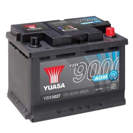 Аккумулятор автомобильный Yuasa YBX9027