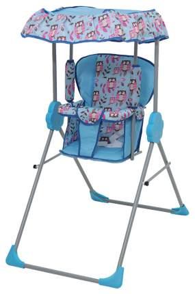 Качалка детская Фея Малыш с тентом голубой 0004289-1
