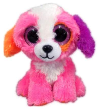 Мягкая игрушка ABtoys Собачка розовая, 15 см