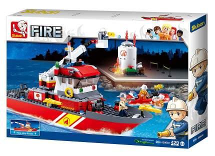 Конструктор пластиковый Sluban Корабль пожарный с фигурками 429 дет M38-B0630