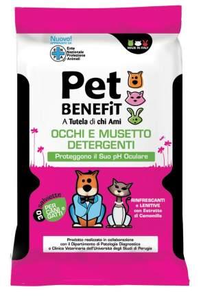 Влажные салфетки для животных Pet Benefit, для ухода за глазами/мордочками, 30шт.
