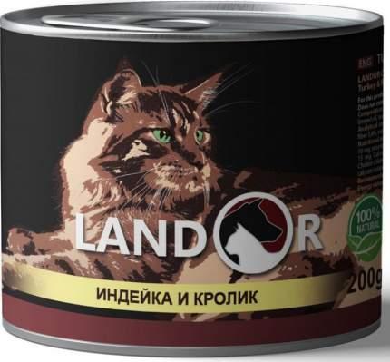 Консервы для кошек Landor, индейка с кроликом, 200г