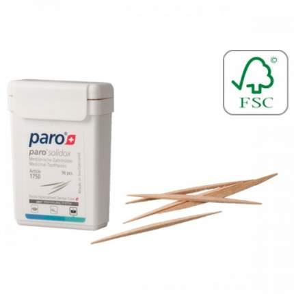 Paro Медицинские деревянные саблевидные зубочистки, 96 шт