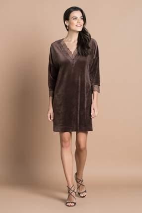 Домашнее платье женское Laete 20309-2 коричневое 2XL