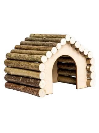 Домик для грызунов Zoobaloo Woodpethouse, ромб большой, арт.613, 23х20х17см