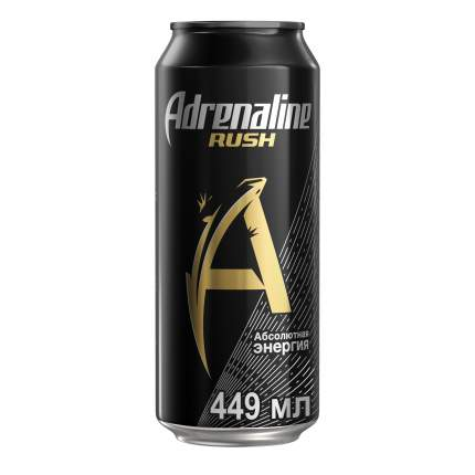Энергетический напиток Adrenaline Rush безалкогольный газированный жестяная банка 0.449 л