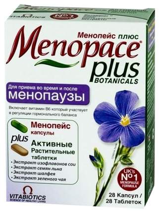 Менопейс плюс в таблетках N28+капс N28