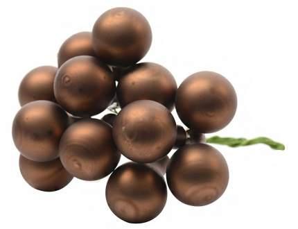 Гроздь стеклянных матовых шариков KAEMINGK на проволоке, 12 шаров по 25 мм