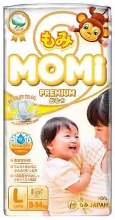 Подгузники Momi Premium, размер L (9-14 кг), 50 штук
