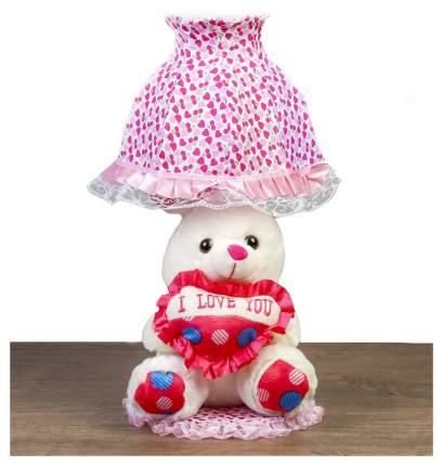 Мягкая игрушка Sima-Land Зайчик с сердцем 4471237 Розовый