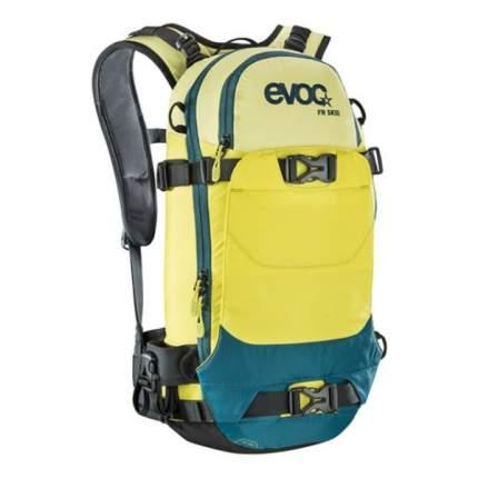 Рюкзак для лыж и сноуборда EVOC FR Skid XS, yellow/sulphure/petrol, 10 л