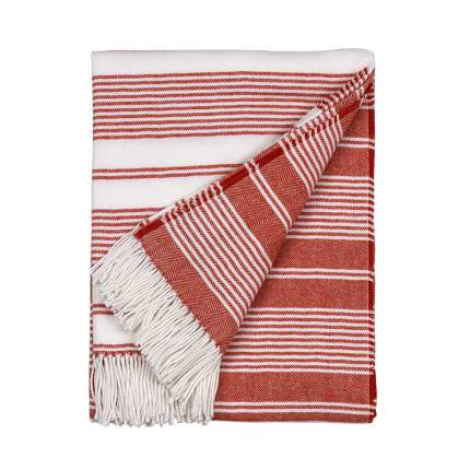 Плед Gant Home CC STRIPE THROW 130x180см, цвет красный