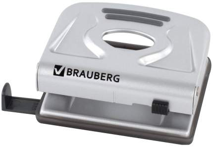 Дырокол Brauberg Meister, металлический, средний, на 20 листов, 224339 Серебристый