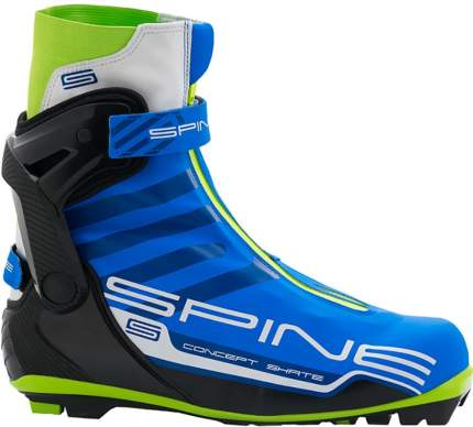Ботинки для беговых лыж Spine Concept Skate PRO 297 NNN 2020, black/blue/lime, 45