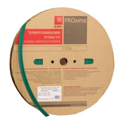 Термоусадка EKF ТУТ 12/6 зелёная рулон PROxima 100 м