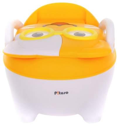 Детский горшок Pituso котик в очках желтый