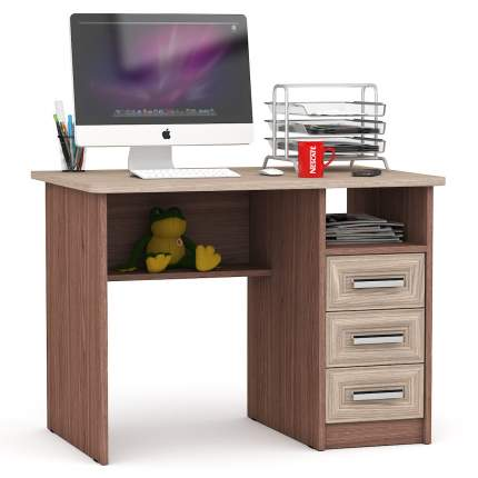 Письменный стол Мебельный Двор 43952 МД-1.05, ясень шимо светлый- тёмный