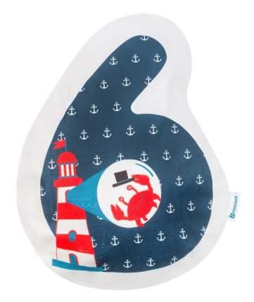 Подушка Крошка Я цифра 6, 41х33 см, синий, велюр