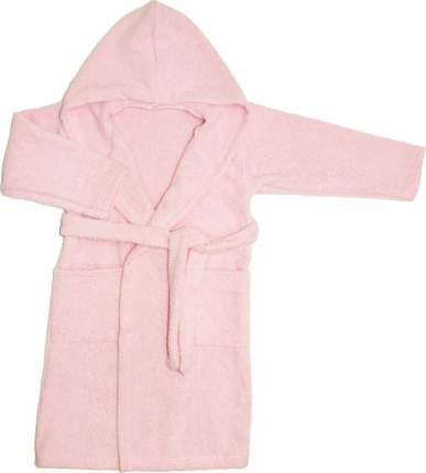 Халат Осьминожка с капюшоном махровый детский розовый 116 размер