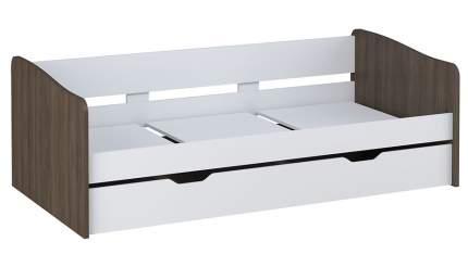 Кровать детская выдвижная Polini kids Simple 4210 белый/трюфель