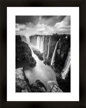 """Картина в багете 40х50 см """"Водопады"""" Ekoramka BE-103-391"""