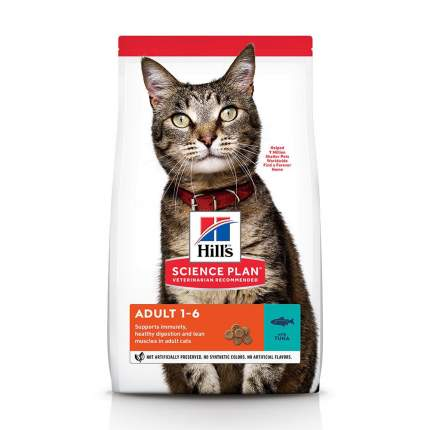 Сухой корм для кошек Hill's Science Plan Adult, тунец, 0,3кг