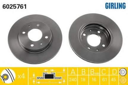 Тормозной диск GIRLING 6025761