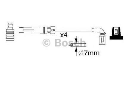 Провода высоковольтные Bosch 0986356987