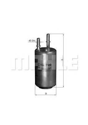 Фильтр топливный Mahle/Knecht KL705