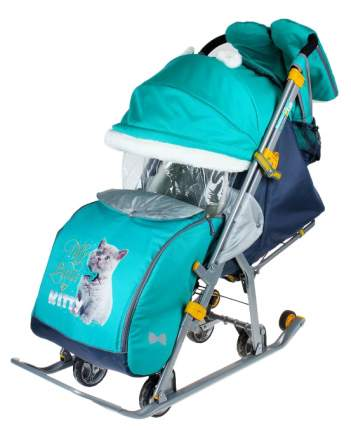 Cанки-коляска Nika Детям 7-2 Kitty, изумруд